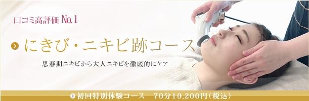 にきび・ニキビ跡コース